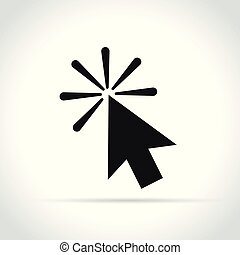 computer mouse arrow black icon