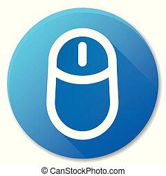 computer mouse blue circle icon