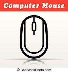 computer mouse vector icon design