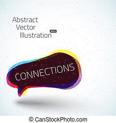 Geometric connection vector illustration