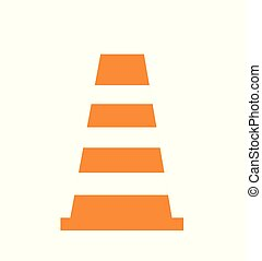 illustration of Cone icon isolated on white