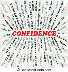 confidence - illustration of confidence concept.
