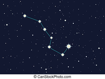 "illustration of constellation ""the Great Bear"""