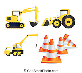 Construction Icons - Illustration of Construction Equipment,...