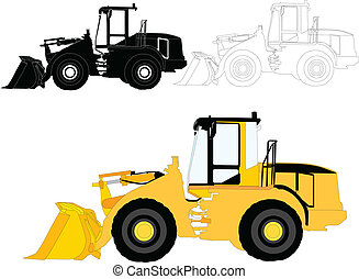 construction machines - vector