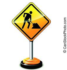 construction sign concept