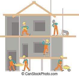 Illustration of construction site