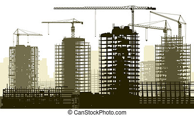 Illustration of construction site.