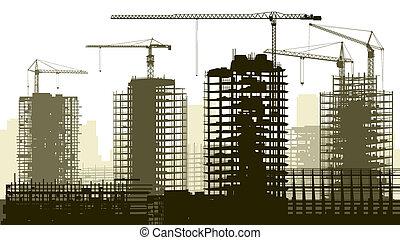 Illustration of construction site.