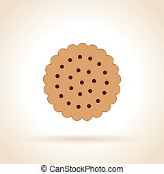 cookie icon on white background