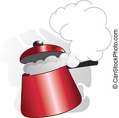 cooker - Illustration of cooking equipments in pressure...