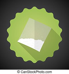 Cooking flour, Sugar, Cocaine Bag Bad Habit Flat icon vector bac