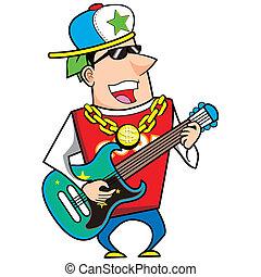 illustration of cool cartoon artiste.