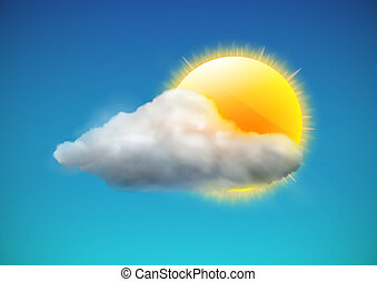 weather icon - illustration of cool single weather icon -...