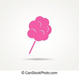 cotton candy on white background