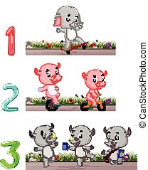Counting numbers with animals