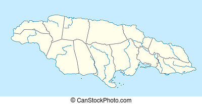 Jamaica map Very big size jamaica political map stock