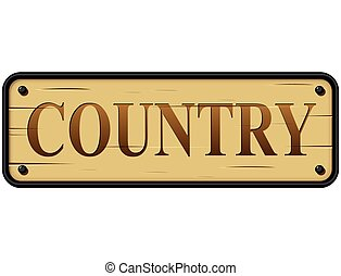 country wood sign text