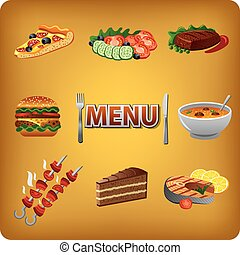 menu for cafe