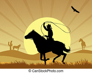 cowboy - illustration of cowboy