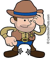 Illustration of cowboy sheriff