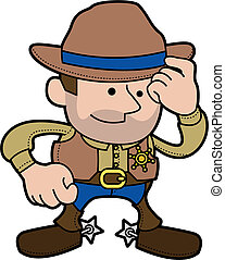 Illustration of cowboy sheriff