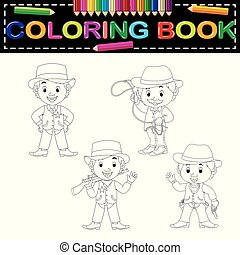 cowboys coloring book