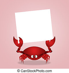 Crab with sign