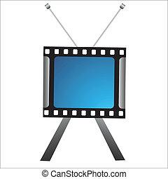 creative tv icon - illustration of creative tv icon on white...