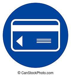 credit card blue circle icon