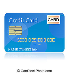 credit card - illustration of credit card on isolated...