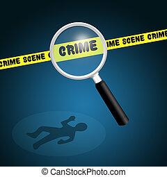 illustration of crime scene
