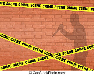 illustration of crime scene