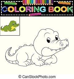 crocodile coloring book
