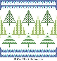 Cross Stitch Embroidery Christmas design for seamless pattern texture