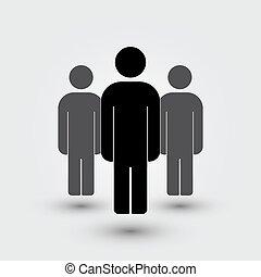 Illustration of crowd  people