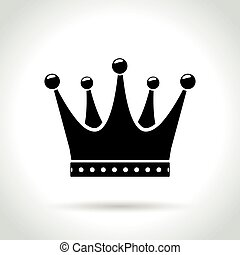 King crown sign white section of icon on blueprint eps vector crown icon on white background malvernweather Images