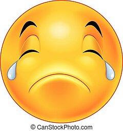 Crying smiley emoticon