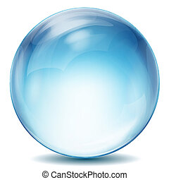 illustration of crystal ball on isolated background