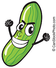 illustration of cucumber on a white background