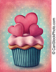 Illustration of cup cake