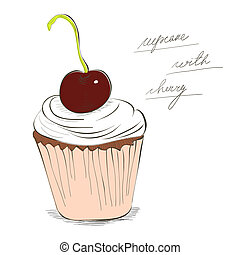 Illustration of cupcake
