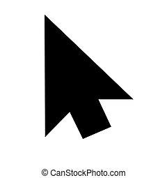 cursor icon silhoutte. JPEG Raster Image . - Illustration of...