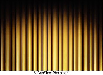 Curtain of golden background