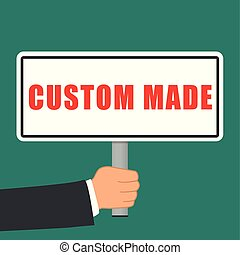custom made word sign flat concept