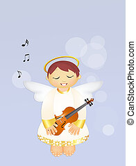 cute Angel with violin