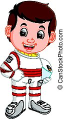 Cute astronaut cartoon - illustration of Cute astronaut...