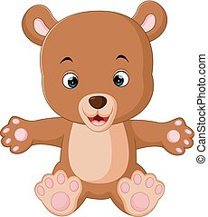 cute baby bears cartoon