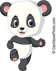 cute baby panda cartoon