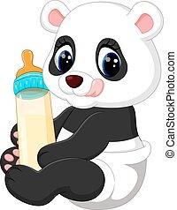 cute baby panda - illustration of cute baby panda cartoon